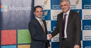 Left to right:Sherif Tawfik Microsoft and Dr. Haji Gulf Air